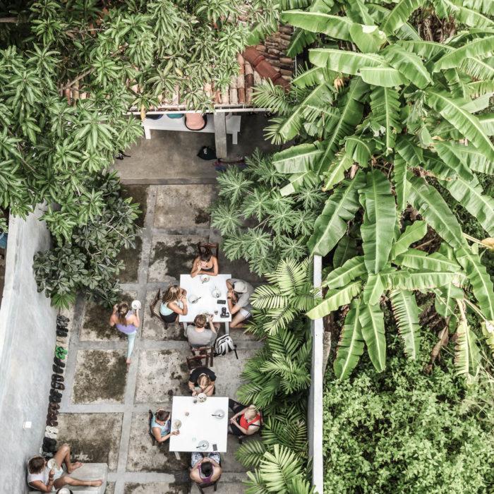 Ceylon Sliders courtyard