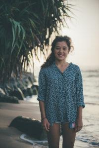 Liz at Jungle Beach Sri Lanka