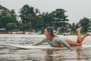Karson surfing opposite Ceylon Sliders