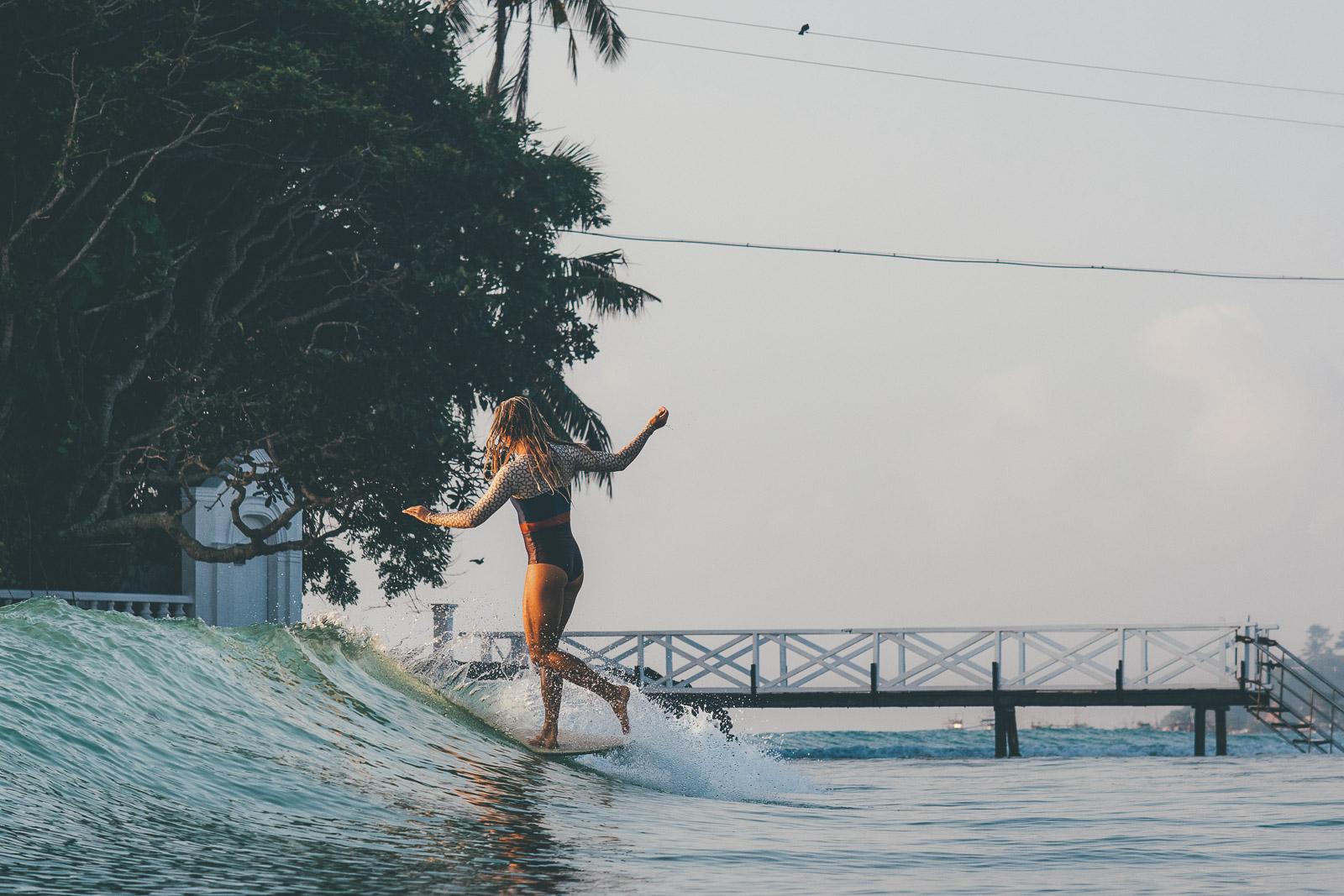 Karson Lewis surfing in Sri Lanka