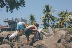 Beach Clean lunch at Ceylon Sliders