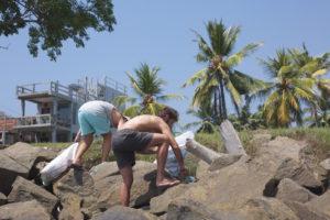 beach clean outside Ceylon Sliders