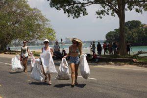 Ceylon Sliders beach clean Weligama