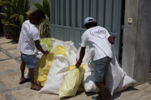 Ceylon Sliders team with plastic rubbish