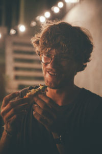 Peter at Ceylon Sliders pizza night