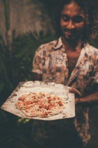 Thili at Ceylon Sliders pizza night