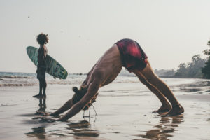 Yoga poses for surfers at Ceylon Sliders